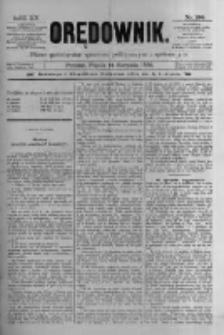 Orędownik: pismo poświęcone sprawom politycznym i spółecznym 1885.08.14 R.15 Nr184