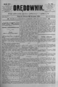 Orędownik: pismo poświęcone sprawom politycznym i spółecznym 1885.08.15 R.15 Nr185