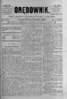 Orędownik: pismo poświęcone sprawom politycznym i spółecznym 1885.09.08 R.15 Nr204