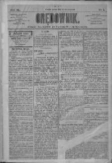Orędownik: pismo dla spraw politycznych i społecznych 1910.01.01 R.40 Nr1