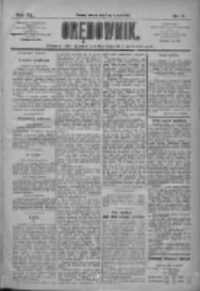 Orędownik: pismo dla spraw politycznych i społecznych 1910.01.11 R.40 Nr7