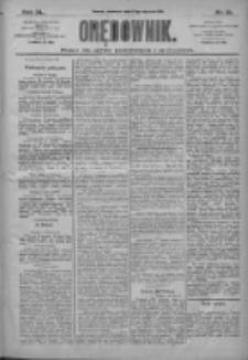 Orędownik: pismo dla spraw politycznych i społecznych 1910.01.27 R.40 Nr21
