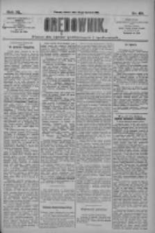 Orędownik: pismo dla spraw politycznych i społecznych 1910.04.30 R.40 Nr99