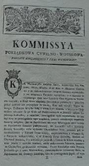 Obwieszczenie Komisji Porządkowej Cywilno-Wojskowej pow. kościańskiego i ziemi wschowskiej