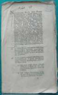 Cyrkularz do duchowieństwa katolickiego w Poznańskim Kameralnym Departamencie. Dan w Poznaniu dnia 11 lutego 1797