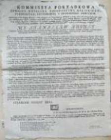 [Obwieszczenie Komisji Porządkowej Cywilno-Wojskowej woj. kaliskiego, pow. pyzdrskiego, konińskiego i średzkiego. 08.03.1792]