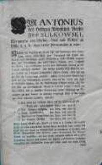[Obwieszczenie Antoniego Sułkowskiego 1780.07.21]