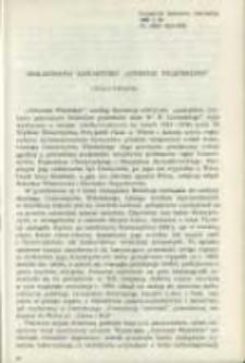 """Bibliografia zawartości """"Ateneum Wileńskiego"""". Pamiętnik Biblioteki Kórnickiej Z. 20."""