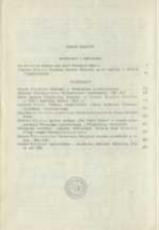 Treść zeszytu 20. Pamiętnik Biblioteki Kórnickiej Z. 20.
