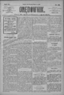 Orędownik: pismo dla spraw politycznych i społecznych 1910.05.26 R.40 Nr119