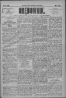 Orędownik: pismo dla spraw politycznych i społecznych 1910.06.23 R.40 Nr142