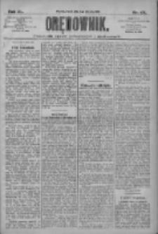 Orędownik: pismo dla spraw politycznych i społecznych 1910.08.02 R.40 Nr175