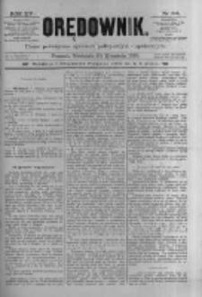 Orędownik: pismo poświęcone sprawom politycznym i spółecznym 1885.09.20 R.15 Nr214