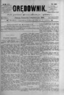 Orędownik: pismo poświęcone sprawom politycznym i spółecznym 1885.10.08 R.15 Nr229