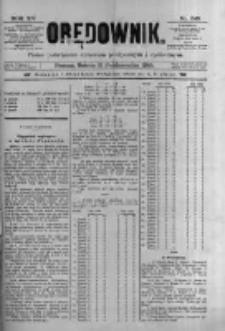Orędownik: pismo poświęcone sprawom politycznym i spółecznym 1885.10.31 R.15 Nr249