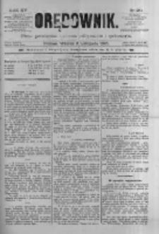 Orędownik: pismo poświęcone sprawom politycznym i spółecznym 1885.11.03 R.15 Nr251