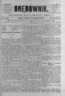 Orędownik: pismo poświęcone sprawom politycznym i spółecznym 1885.11.07 R.15 Nr255