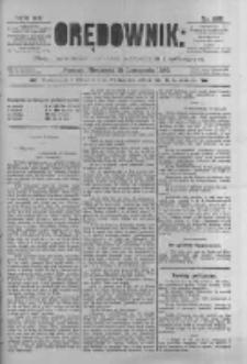 Orędownik: pismo poświęcone sprawom politycznym i spółecznym 1885.11.15 R.15 Nr262