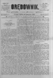 Orędownik: pismo poświęcone sprawom politycznym i spółecznym 1885.11.18 R.15 Nr264
