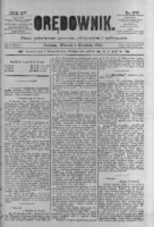 Orędownik: pismo poświęcone sprawom politycznym i spółecznym 1885.12.01 R.15 Nr275