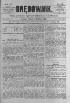 Orędownik: pismo poświęcone sprawom politycznym i spółecznym 1885.12.04 R.15 Nr278