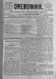 Orędownik: pismo poświęcone sprawom politycznym i spółecznym. 1886.01.01 R.16 nr1