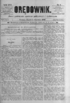 Orędownik: pismo poświęcone sprawom politycznym i spółecznym. 1886.01.08 R.16 nr5