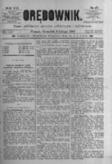 Orędownik: pismo poświęcone sprawom politycznym i spółecznym. 1886.02.04 R.16 nr27