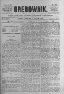 Orędownik: pismo poświęcone sprawom politycznym i spółecznym. 1886.02.11 R.16 nr33
