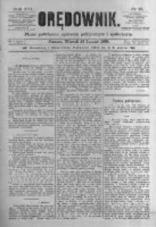 Orędownik: pismo poświęcone sprawom politycznym i spółecznym. 1886.02.23 R.16 nr43