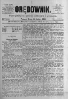 Orędownik: pismo poświęcone sprawom politycznym i spółecznym. 1886.02.24 R.16 nr44