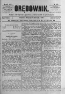 Orędownik: pismo poświęcone sprawom politycznym i spółecznym. 1886.02.26 R.16 nr46