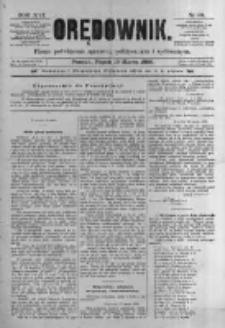 Orędownik: pismo poświęcone sprawom politycznym i spółecznym. 1886.03.19 R.16 nr64