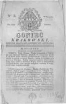 Goniec Krakowski: dziennik polityczny, historyczny i literacki. 1829.01.10 nr5