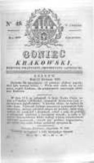 Goniec Krakowski: dziennik polityczny, historyczny i literacki. 1829.04.23 nr49