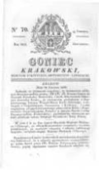 Goniec Krakowski: dziennik polityczny, historyczny i literacki. 1829.06.11 nr70