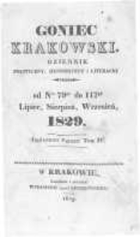 Goniec Krakowski: dziennik polityczny, historyczny i literacki. 1829.07.02 nr79