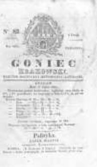 Goniec Krakowski: dziennik polityczny, historyczny i literacki. 1829.07.09 nr82