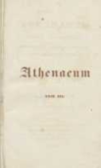 Athenaeum: pismo poświęcone historii, literaturze, sztukom, krytyce itd. 1841 Nr3