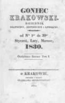 Goniec Krakowski: dziennik polityczny, historyczny i literacki. 1830.03.06 nr28