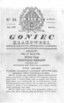 Goniec Krakowski: dziennik polityczny, historyczny i literacki. 1830.03.13 nr31