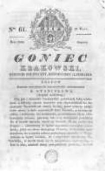 Goniec Krakowski: dziennik polityczny, historyczny i literacki. 1830.05.22 nr61