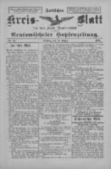 Amtliches Kreis-Blatt für den Kreis Neutomischel: zugleich Neutomischeler Hopfenzeitung 1897.08.10 Nr62
