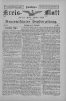 Amtliches Kreis-Blatt für den Kreis Neutomischel: zugleich Neutomischeler Hopfenzeitung 1897.09.07 Nr70