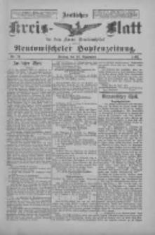Amtliches Kreis-Blatt für den Kreis Neutomischel: zugleich Neutomischeler Hopfenzeitung 1897.09.10 Nr71