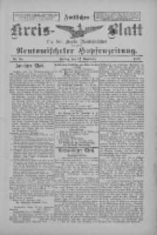 Amtliches Kreis-Blatt für den Kreis Neutomischel: zugleich Neutomischeler Hopfenzeitung 1897.11.12 Nr89
