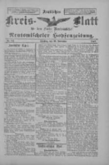 Amtliches Kreis-Blatt für den Kreis Neutomischel: zugleich Neutomischeler Hopfenzeitung 1897.11.23 Nr92