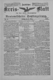Amtliches Kreis-Blatt für den Kreis Neutomischel: zugleich Neutomischeler Hopfenzeitung 1898.03.22 Nr23