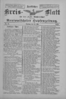 Amtliches Kreis-Blatt für den Kreis Neutomischel: zugleich Neutomischeler Hopfenzeitung 1898.05.17 Nr38