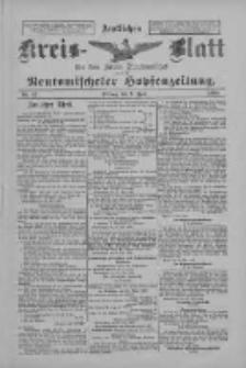Amtliches Kreis-Blatt für den Kreis Neutomischel: zugleich Neutomischeler Hopfenzeitung 1898.06.03 Nr42